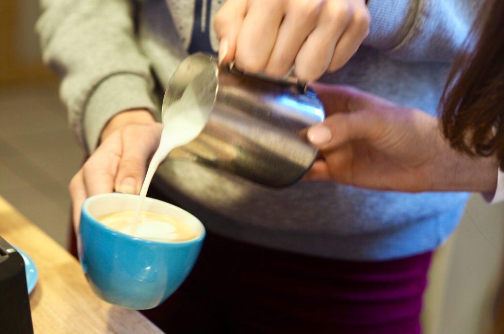 latte art příprava