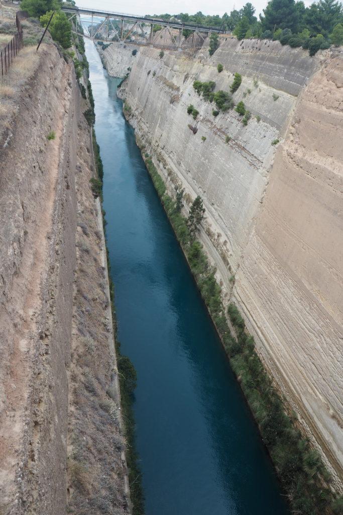 Korintský průplav Peloponés
