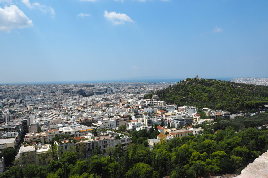Akropole výhled